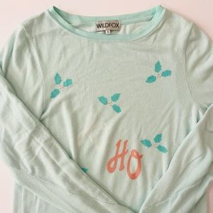 Wildfox soft mint sweater.